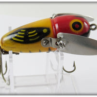 Vintage Heddon 2120 YRH Yellow Red Head Crazy Crawler In Correct Box