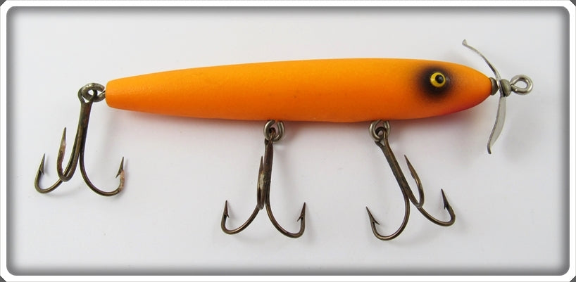Vintage Paw Paw Fire Orange Torpedo Lure 2400 F.O.