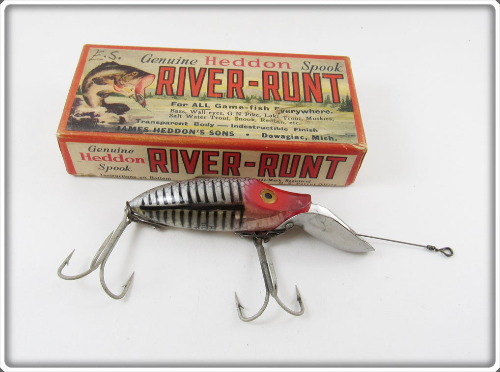 Heddon Silver Shore Early Scoop Lip Go Deeper River Runt In Correct Box
