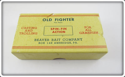 Beaver Bait Co Rainbow Old Fighter Empty Box