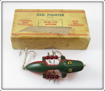 Vintage Beaver Bait Company Rainbow Old Fighter Lure In Box