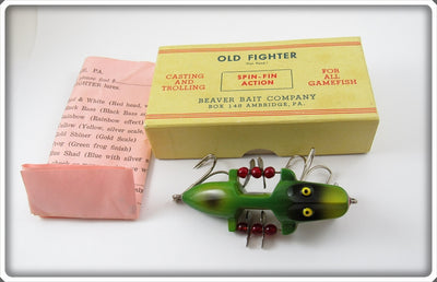 Beaver Bait Co Frog Finish Old Fighter In Box