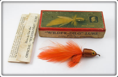 Heddon Irvin Cobb Gold & Orange Wilder Dilg In Picture Box