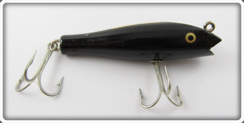 Vintage Creek Chub Solid Black Midget Darter Lure 8013