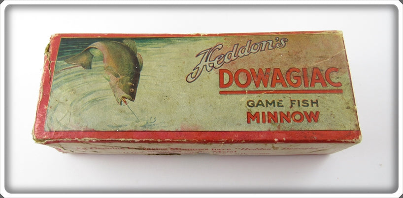 Vintage Heddon Empty Box For Red or Blended Red Spindiver Lure 3004