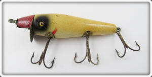Vintage Vann Clay Red & White Retrievable Minnow Lure
