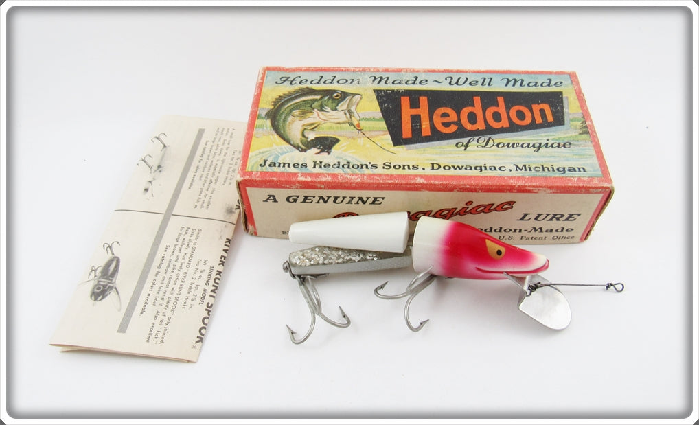 Heddon Red Head White Scissor Tail In Correct Box