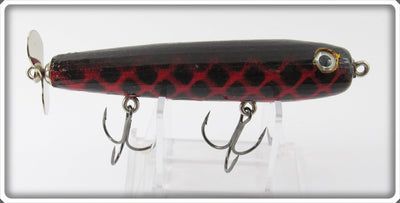 Side Stepper Bait Co Red & Black Water Churner Jr Lure