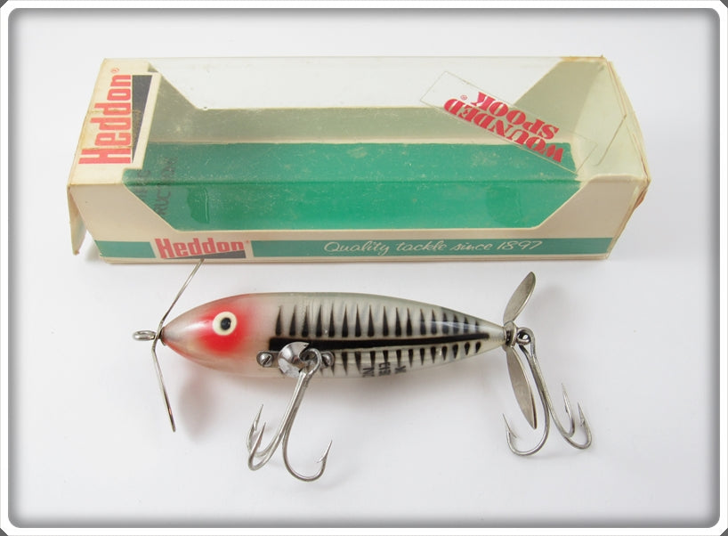 Vintage Heddon Silver Shore Floppy Prop Wounded Spook 9140 XRS