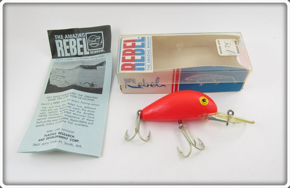 Rebel Coho Special All Red Fastback/Deep Humpy In Correct Box 2026-99