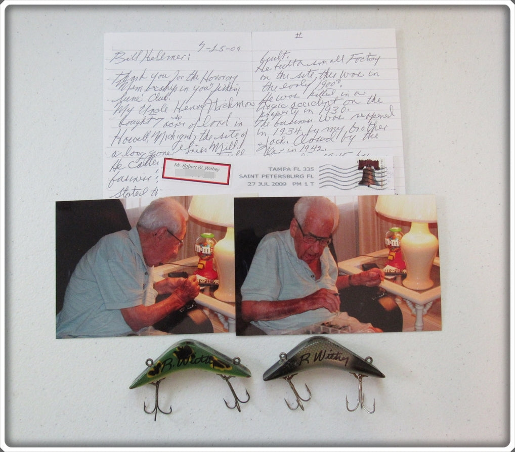 Signed Millsite Daily Double Pair With Photos & Letter From Robert Withey