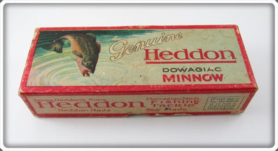 Vintage Heddon Green Scale 150 Minnow Lure Empty Box 159D