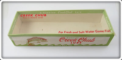 Vintage Creek Chub Rainbow Husky Plunker Empty Lure Box 5808