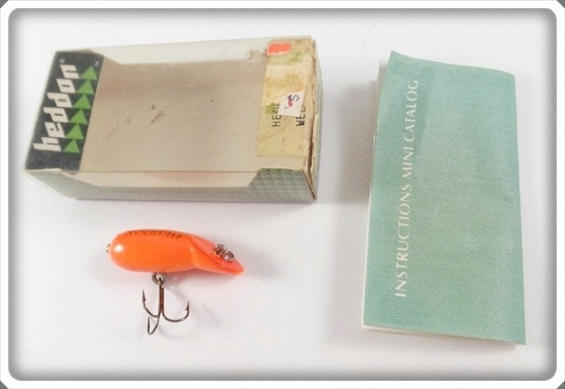 Vintage Heddon Fluorescent Redhorse Wee Tad Lure In Box 390 RFL