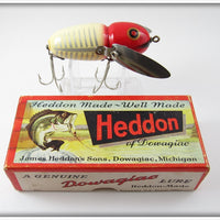 Vintage Heddon XRW Red & White Shore Crazy Crawler 2nd Lure