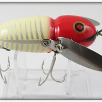 Heddon XRW Red & White Shore Crazy Crawler 2nd In Box