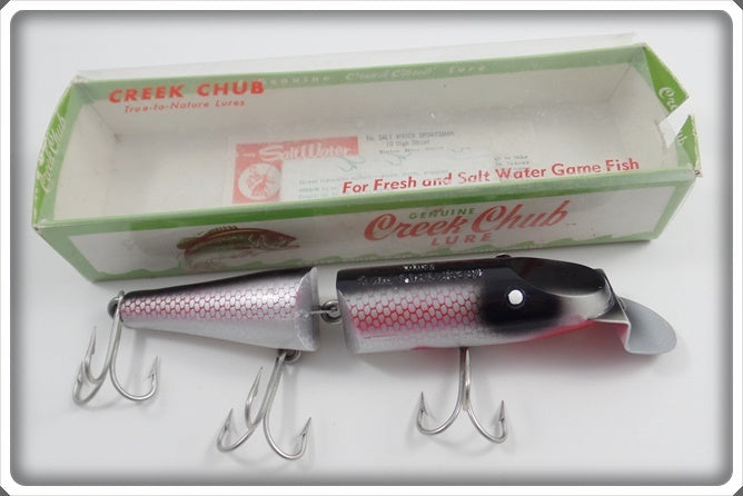 Creek Chub Whitefish w/ Pink Accent Plastic Jointed Husky Pikie In Correct Box
