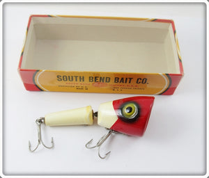 Vintage South Bend Red & White Go Plunk Lure In Correct Box 2929 RW