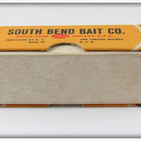 South Bend Red Arrowhead White Dive Oreno In Box