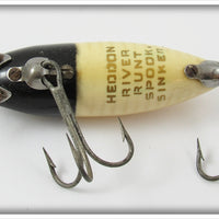 Heddon Spook Ray Black & Yellow River Runt In Box