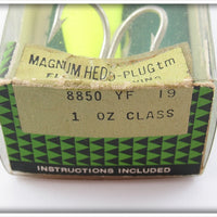 Heddon Fluorescent Yellow Anchovy Magnum Hedd Plug In Box