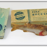 Vintage Kurz Bros Co Kurz Buck Skin Bait In Box