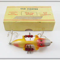 Vintage Beaver Bait Co Yellow Silver Scale Old Fighter Lure YSR-3