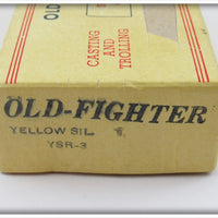Beaver Bait Co Yellow Silver Scale Old Fighter In Box