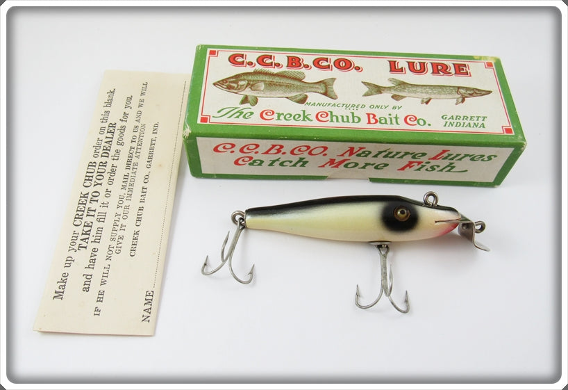 Vintage Creek Chub Western Auto Pearl Baby Pikie Lure 900 Special