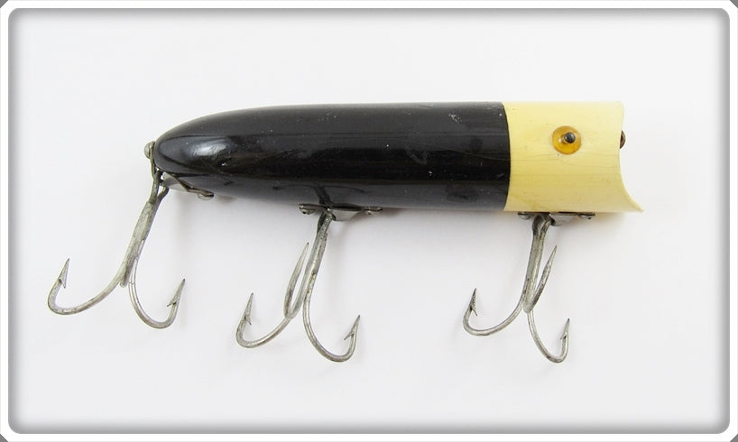 Heddon Black With White Head Lucky 13 2500 BWH