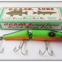 CCBC Creek Chub Fire Lacquer Plug Jointed Husky Pikie Lure In Box 3032