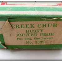 Creek Chub Fire Plug Jointed Husky Pikie In Correct Box