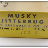 Arbogast Red Head Wooden Musky Jitterbug In Correct Box