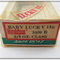 Heddon Solid Black Baby Lucky 13 In Correct Box