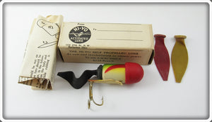 Vintage Hi Yo Green & Red Activated Lure In Box