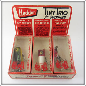 Vintage Heddon Tiny Trio For Spinning Lure Pack Set