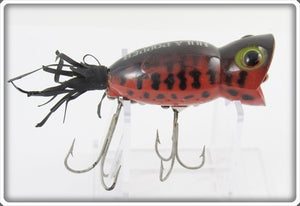 Arbogast Orange Coachdog Fluorescent Red Coachdog Hula Popper
