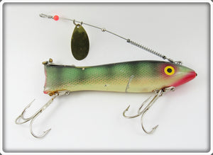 Ed Latiano Perch Large Heddon Dowagiac Spook Type Lure