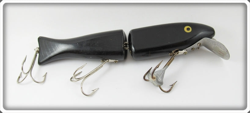 Ed Latiano Black Prototype Test Bait Jointed Minnow Lure