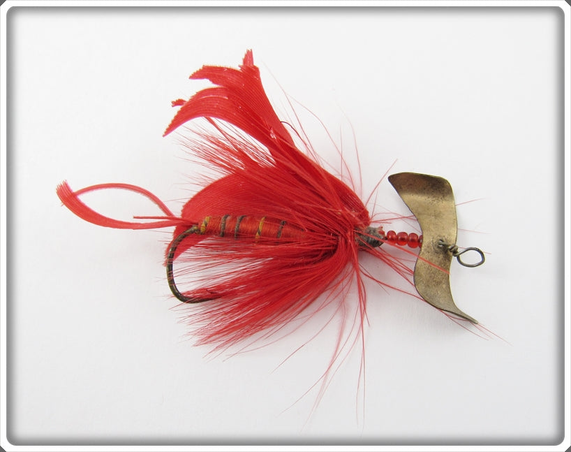 Vintage J.T. Buel Red Spinning Fly Lure