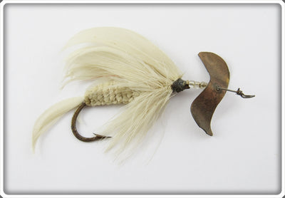 Vintage J.T. Buel White Spinning Fly Lure