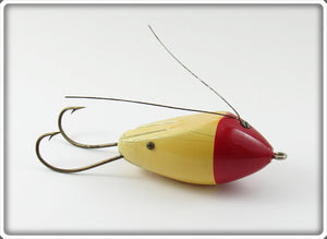 Vintage Moonlight Red & White 99 Percent Weedless Lure