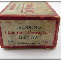 Heddon Down Bass Game Fish Minnow Empty Box
