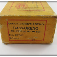 South Red Head White Bend Bass Oreno Empty Box