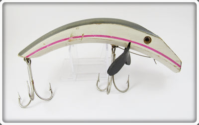 Vintage Harry Gusick White & Grey Bonanza Lure