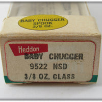 Heddon Green Shad Chrome Baby Chugger Jr In Box