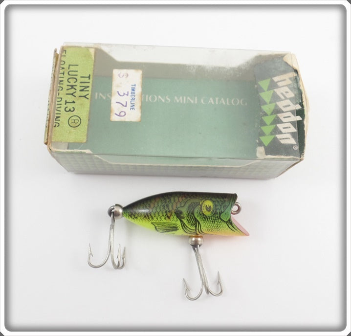 Heddon Natural Pumpkinseed Tiny Lucky 13 In Correct Box PUM