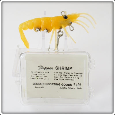 Jenson Sporting Goods Arc Yellow Flipper Shrimp Lure In Box