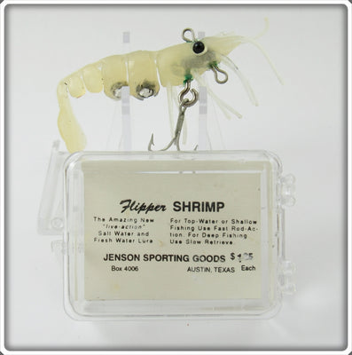 Jenson Sporting Goods Clear Flipper Shrimp Lure In Box