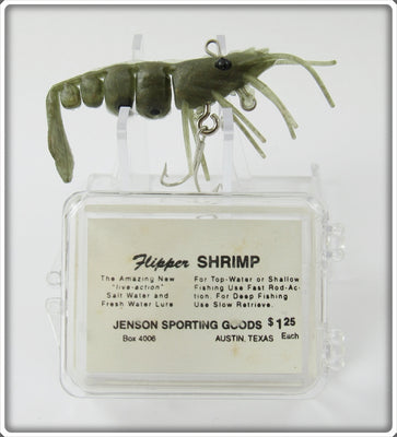 Jenson Sporting Goods Golden Shrimp Flipper Shrimp Lure